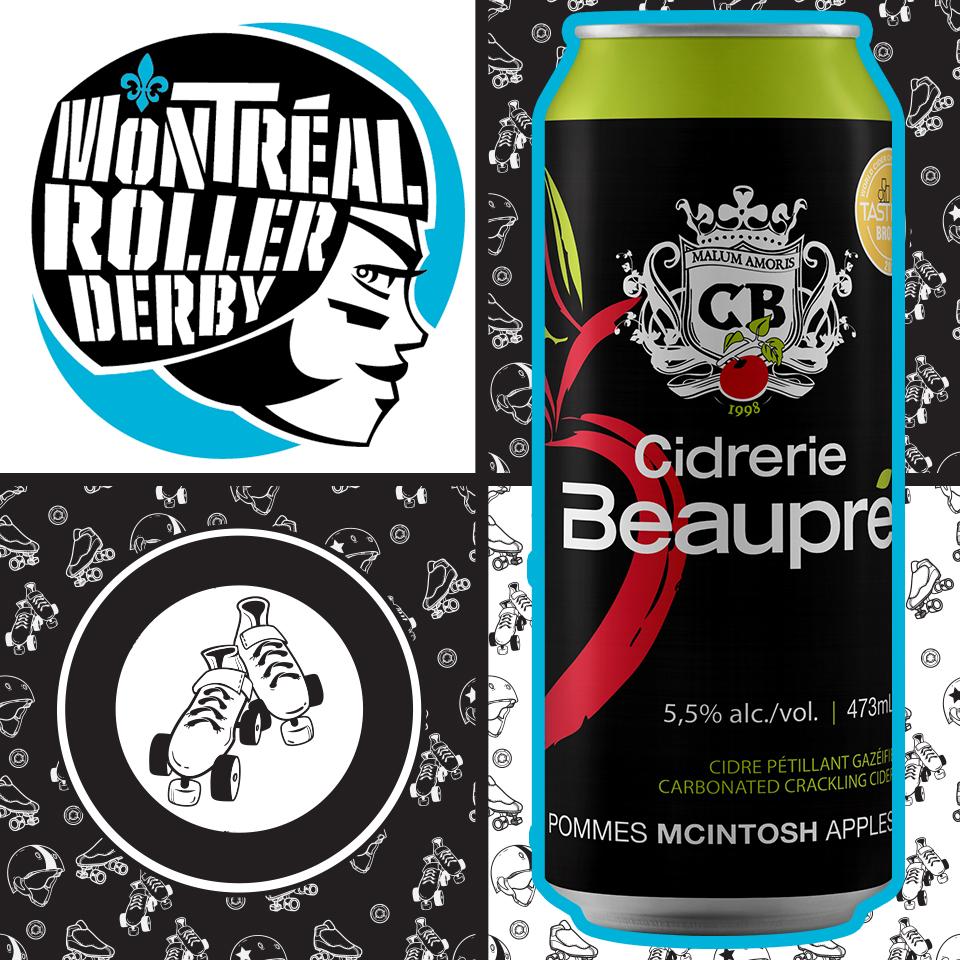 Cidrerie Beaupré au Championnat du Monde de Roller Derby!